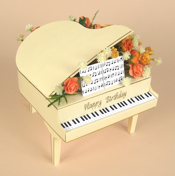A4 card making templates for 3d grand piano display box for Card making templates free download